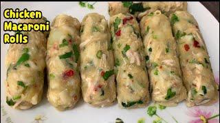 Chicken And Macaroni Rolls / Ramadan Ke liye Bana Ka Freeze Karein Mahino Tak / yasmin cooking