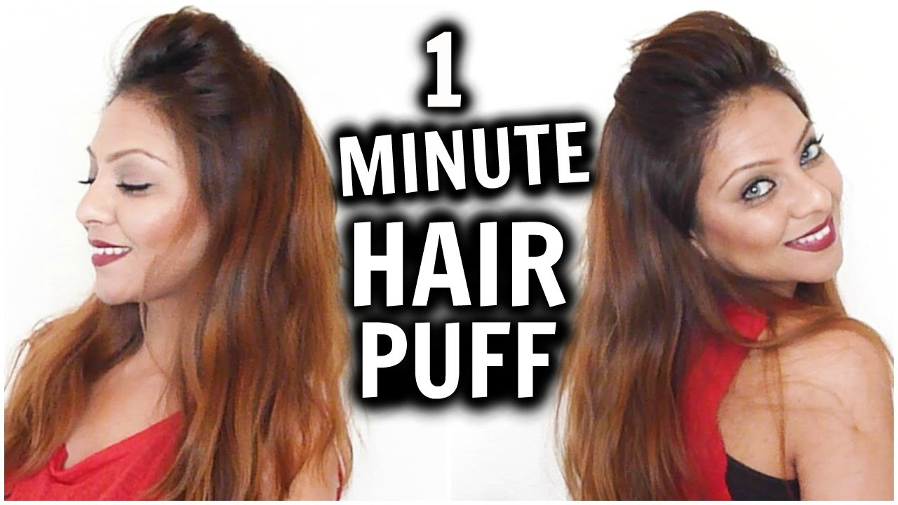 easy & quick everyday puff hairstyle │perfect pouf tutorial for
