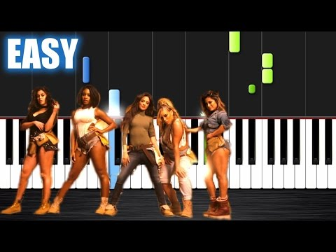 Fifth Harmony - Work from Home - EASY Piano Tutorial by PlutaX