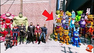 CAN THE AVENGERS DEFEAT ALL THE ANIMATRONICS? (GTA 5 Mods FNAF RedHatter)
