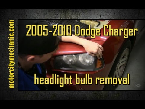 hqdefault 2005 2010 dodge charger headlight bulb youtube  at gsmportal.co