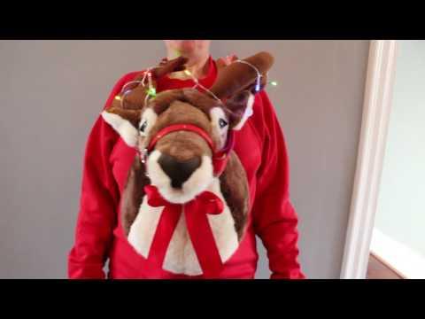 Rudolf the Reindeer Singing Light Up 3D Christmas Jumper