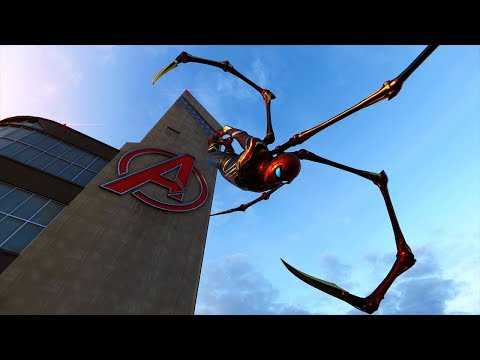 Spider-Man PS4 - Expert Combat Gameplay - Iron Spider Showcase & Free Roam - Vol.5