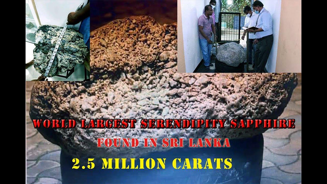 Download World largest Serendipity sapphire gem found in Sri Lanka  Breaking News   special 2.5 million carat