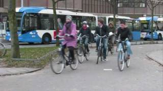 Cycling in freezing cold - Utrecht, Netherlands