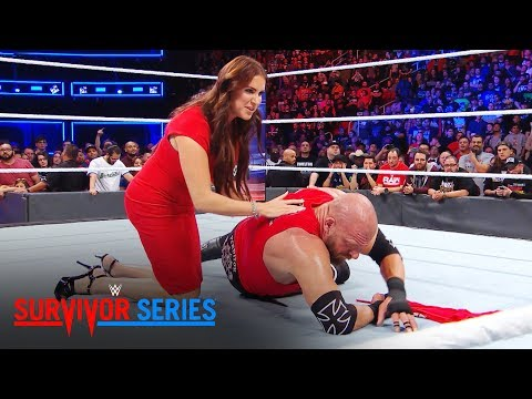 Thumbnail: Stephanie McMahon tends to Triple H after a beatdown by Braun Strowman: Exclusive, Nov. 19, 2017