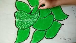 Freehand Ganesha Rangoli   Easy n Unique Rangoli By Rashmi