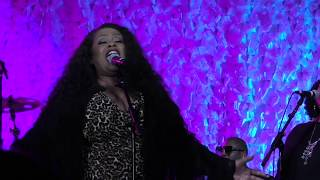 Maysa sings Love is a Battlefield with Chris Big Dog Davis and Friends at the 2019 Berks Jazz Fest