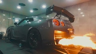 INSANE 6FT FLAMES! 2017 NISSAN GT-R ARMYTRIX EXHAUST X DS PERFORMANCE