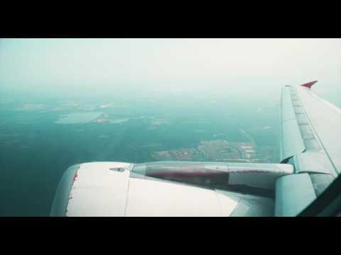 Air Asia flight- India to Bali (4k)
