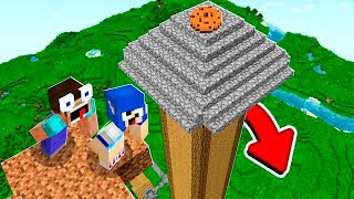 2 NOOBS VS. TORRE MAIS ALTA DO MINECRAFT!