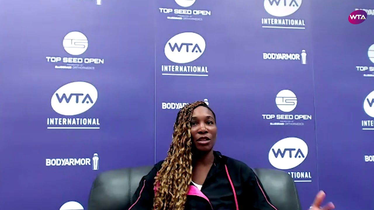Download Venus Williams 'One of the toughest first rounds I've ever played'   2020 Lexington Press Conference