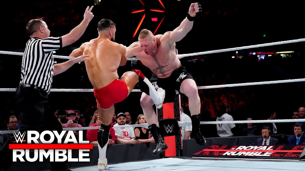 Finn Bálor DDTs Brock Lesnar in a furious start to their Universal Title Match: Royal Rumble 2019