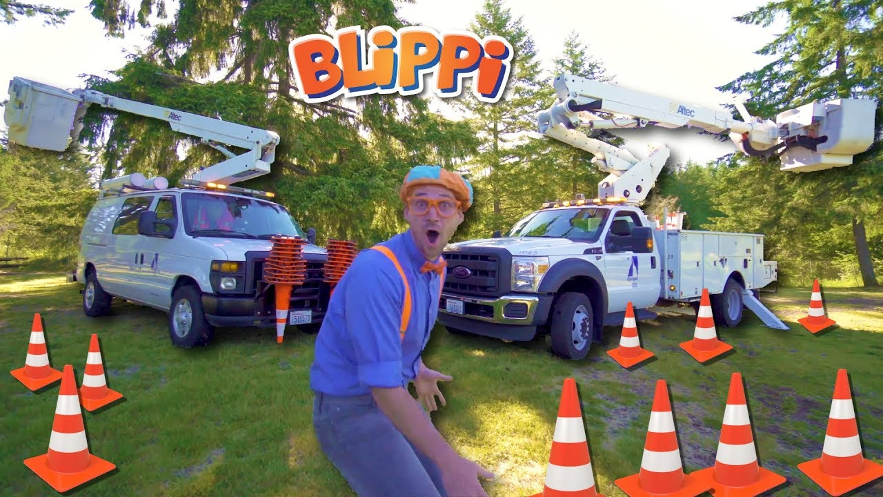 3f9b8e90 Blippi Goes Up in a Bucket Truck | Educational Machines for Kids ...