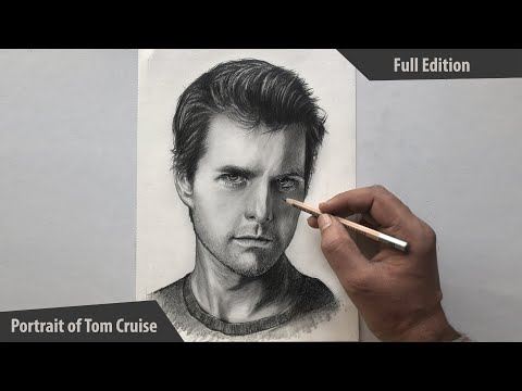 How to Draw Faces | How to Draw a PORTRAIT Easily- Step by Step | How to draw TOM CRUISE