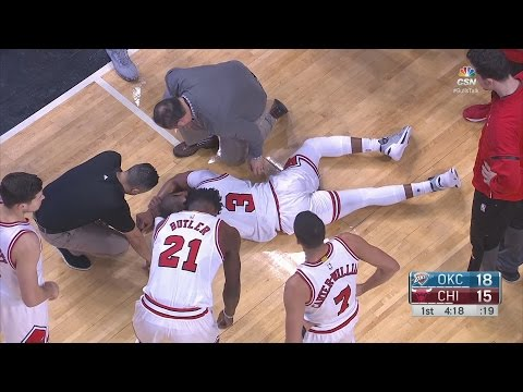Dwyane Wade Goes Down, Jimmy Butler Leaves in 3rd Quarter Westbrook Near Triple Double