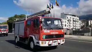 Imagens mostram o desfile das viaturas das corporações do Funchal nas comemorações do Dia da Região