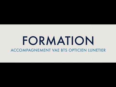 VAE BTS Opticien Lunetier : Accompagnement et perfectionnement des compétences