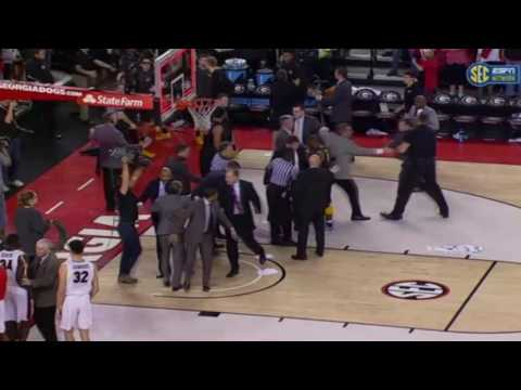 Scuffle Leaving the Court