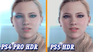 Detroit: Become Human | PS5 vs PS4 PRO | 4K HDR Gameplay Graphics Comparison