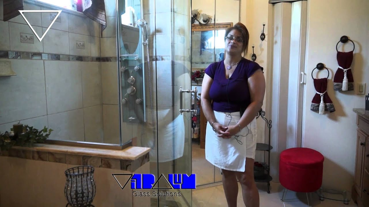 Vitralum Glass Solutions 135° Neo angle frame less shower enclosure ...