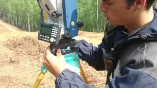 Прямая засечка + установка прибора над точкой Sokkia CX-105L