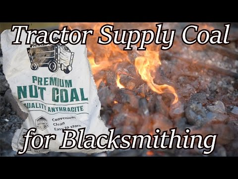 Tractor Supply Coal - Does it work? Blacksmithing   Iron Wolf Industrial