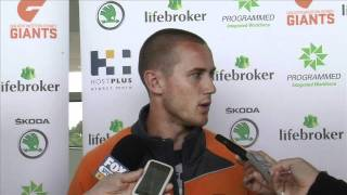 GIANTS press conference: Tom Scully and Israel Folau