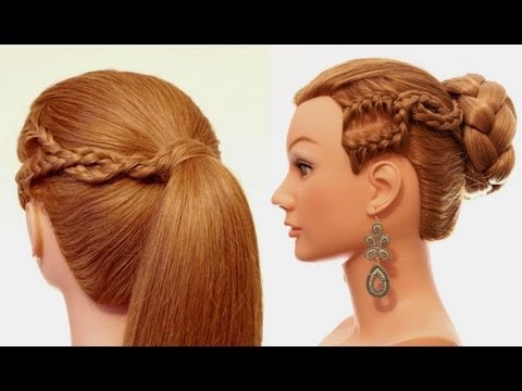 Easy hairstyle for every day. Hairstyles for long hair - YouTube