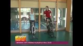 Тренировка на велотренажере. Утро с Губернией 18/07/2014 GuberniaTV