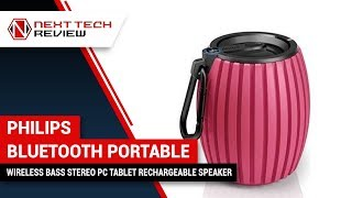 PHILIPS BLUETOOTH PORTABLE WIRELESS BASS STEREO PC TABLET RECHARGEABLE SPEAKER Product Review  – NTR