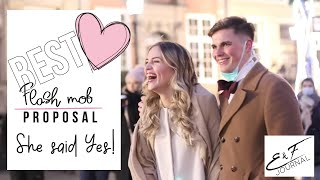 Best FLASH MOB Surprise PROPOSAL Ever | Marry You Bruno Mars