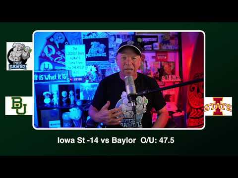 Iowa State vs Baylor Free College Football Picks and Predictions CFB Tips Saturday 11/7/20