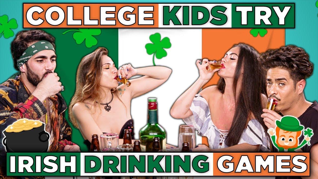Download College Kids Try Irish Drinking Games   React