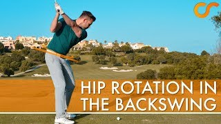 HIP ROTATION IN THE BACKSWING