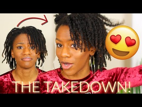 TRANSFORMING MY WEEK OLD PROTECTIVE HAIRSTYLE! 😳 WATCH THIS! Old Mini Twists to BOMB Twist Out!! thumbnail