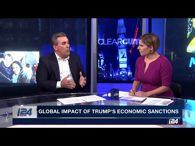 Tom Maoli on Clearcut i24 News discussing global impact of Trump's economic sanctions