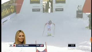 Lindsey Vonn wins Downhil (Val d'Isere 2014)