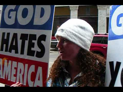 Westboro Baptist Church Protest in San Francisco - Outside Offices of Jewish News Weekly