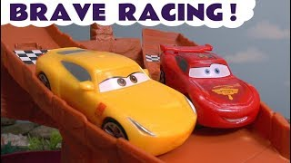 Disney Cars 3 Toys Lightning McQueen Brave Racing with Hot Wheels Superhero Cars for kids TT4U