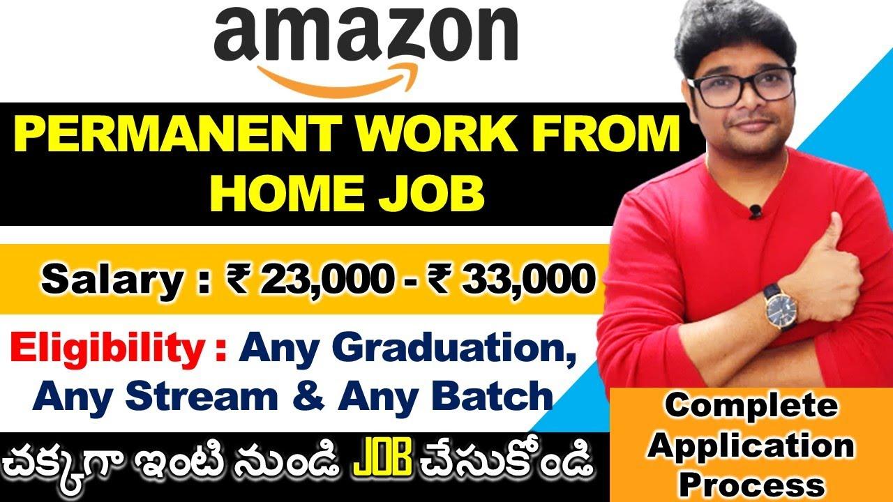 Work from Home jobs 2021 in Telugu | Amazon Work from Home job 2021 in Telugu | V the Techee