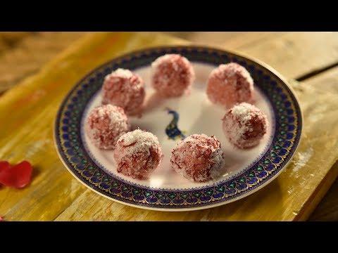 Gulabi Coconut Laddoo | Instant Indian Sweet Recipe | Raksha Bandhan Special Recipe