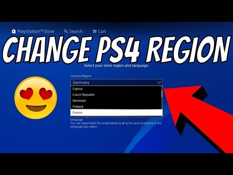 HOW TO Change PSN Country Region - Change PS4 PlayStation Store Language