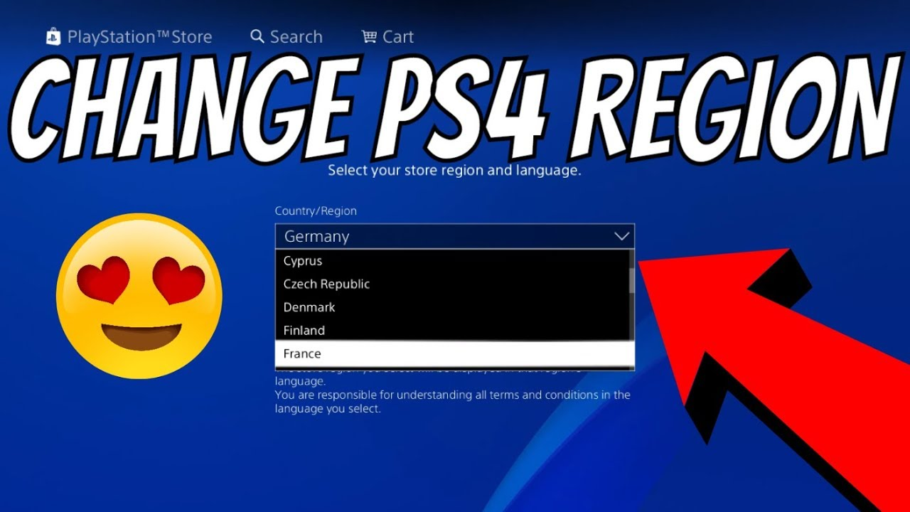 How To Change Psn Country Region Change Ps4 Playstation Store