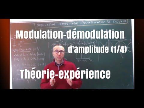 Modulation-Démodulation d'amplitude- théorie/pratique (1/4)