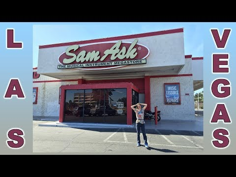 Sam Ash Las Vegas - buying a guitar