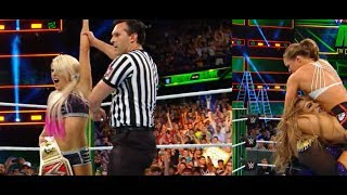 #MITB Alexa Bliss Cashes in Money in the Bank 2018 Ronda Rousey Vs Nia Jax RAW WWE