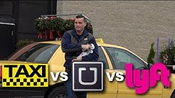 Who's The cheapest?! Taxi vs Uber vs Lyft! Ride Share Social Experiment!