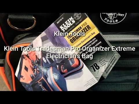 Klein tools tradesman pro organize EXTREME electrician's bag