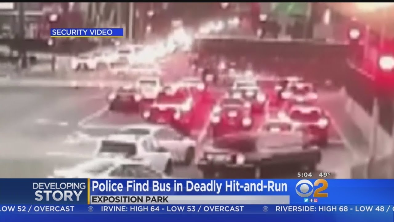 Pedestrian Dies After Being Hit, Dragged By Tour Bus In Exposition Park